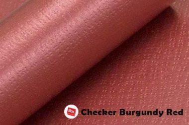 Checker Burgundy Red