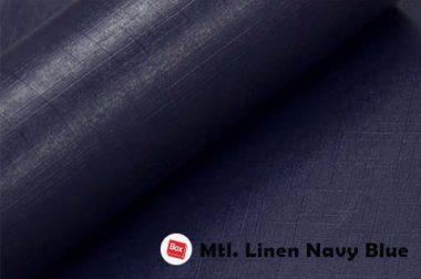 Mtl.Linen Navy Blue