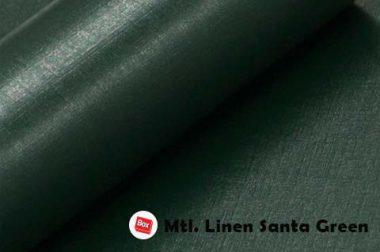 Mtl.Linen Santa Green